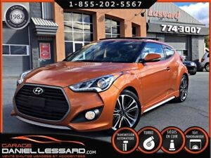 Hyundai Veloster TURBO, CUIR, TOIT PANORAMIQUE, GPS,  MAG 18 P 2