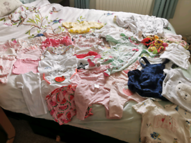 Large Baby Girl Clothing Bundle 0-3 Months Ted baker/Next M&S new/used