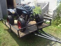 Atv and trailer
