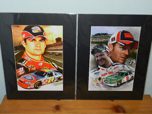 """NASCAR PRINTS in protective sleeves, 16x20"""", $20 EACH FIRM"""