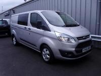 Ford Transit Custom 2.2TDCi 125PS DCiV Trend 290 LWB Trend Silver + A/C - Onsite