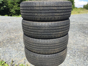 Four P225/65R17 Summer Tires Excellent Tread