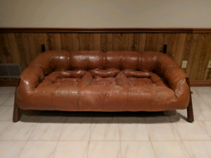 1971 Percival Lafer Leather couch - model MP81, 3-seater