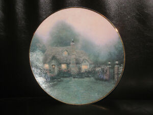 Thomas Kinkade MERRITT'S COTTAGE 1992 Plate in Original Box