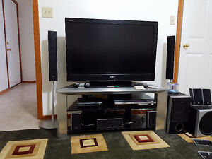Sony 42' TV with Stand and Home Theatre