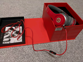 Beats Solo HD special edition red headphones (perfect condition)