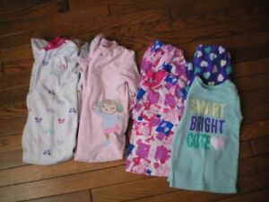 FOUR Pairs of Girls PJ'S  Size 4