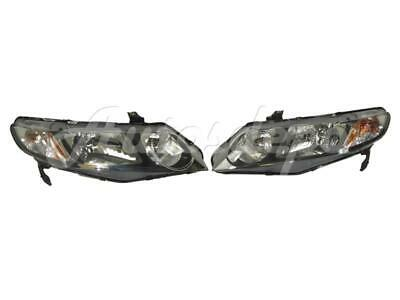NEW FOR HONDA CIVIC HYBRID SEDAN 2009-2011 HEADLIGHT HEADLAMP LH & RH Honda Civic Sedan Headlamp Headlight