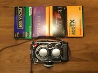 mint rolleiflex 3.5f perfectly working and 18 rolls of film