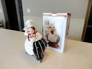 """Brand New Chef Ceramic Cookie Jar by American Atelier 12"""" tall Kitchener / Waterloo Kitchener Area image 2"""