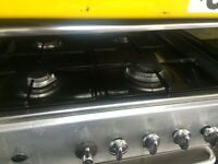 Stainless steel indesit 60cm gas cooker grill & oven good condition with guarantee