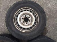 2 x michellin van wheels