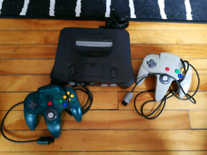 Nintendo 64 with 2 controllers, no power cord
