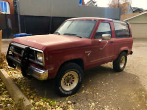 1985 Ford Bronco II: Red, Manual