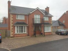 House to rent in Randalstown, detached garage, private garden, close to town and schools