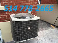 Fournaise électrique/au gaz, Thermopomes et climatiseurs