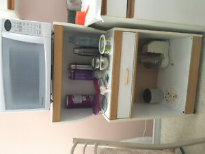 Microwave and stand for sale