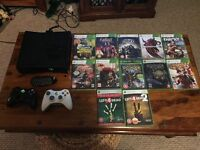 4GB Xbox 360 with 250GB internal storage, wireless controllers and games