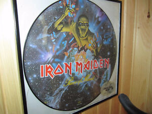 IRON MAIDEN Limited Edition picture disc vinyl framed.1983