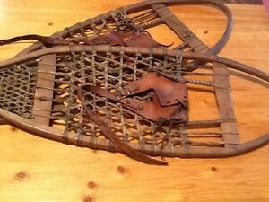 Snowshoes made by Chas.F bodqe e