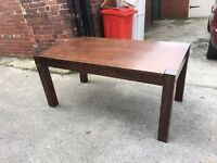 Wooden chunky table