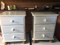 2x shabby chic bed side tables