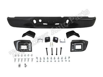 For 04-08 DODGE RAM 1500 -09 2500 3500 REAR BUMPER BLACK ASSY HITCH BRACKET PADS