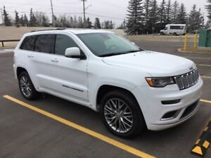 2017 Jeep Grand Cherokee Summit.  Purchase or lease take over.
