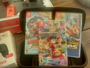 Nintendo Switch and 3 Games / Accessories (Revised)
