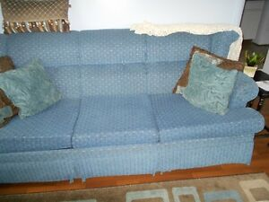 Queen Sleeper Sofa, Blue