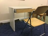 Kids White Computer Desk And Chair For Sale