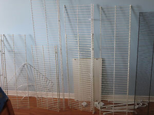 Metal Wire Shelves with Brackets