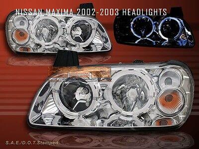 (2002 2003 MAXIMA CRYSTAL HALO HEADLIGHTS )
