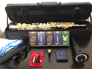 REDUCED - Kenny G G-Series IV Silver Soprano Sax With Gold Keys