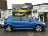 2006 PEUGEOT 307 S 1.6 PETROL 5DR (AA)12 MONTH BREAKDOWN COVER INCLUDED