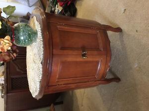 Antique French provincial drum table