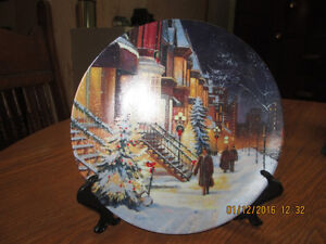"Assiette de Collection Knowles ""A CHRISTMAS SNOWFALL"""