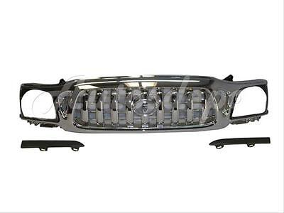 New Grille All Chrome  Headlight Lower Filler Panel 3Pc For 2001 2004 Tacoma