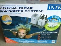Brand new intex salt system for above ground pool