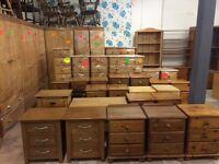 Solid wood / pine bedside cabinet / draws
