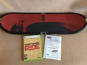Tony Hawk Ride Skateboard bundle for Xbox 360