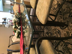 Dining set - Glass tabletop & 6 chairs
