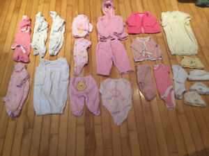 Girls 0-3 month lot