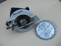 Black and Decker Circular Saw Model 5738 with 4 Blades $40.