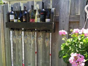 Support à vin à suspendre au mur, pour 8 bouteilles, 6 coupes West Island Greater Montréal image 4