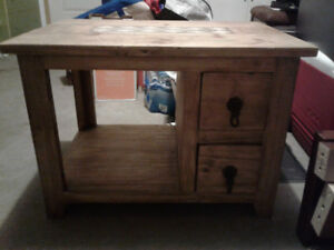 Antique Hard Wood Coffee Table