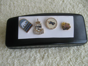 FOUR INTERESTING VINTAGE COLLECTOR'S LAPEL PINS