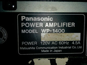 Ramsa Panasonic wp-1400 Amplifier Kingston Kingston Area image 3