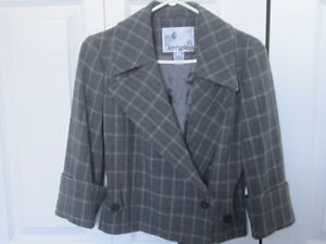 Designer Jacket by Kenzie - 3/4 slleve - Grey - Size 4 - New