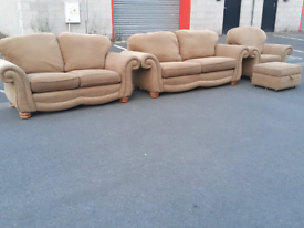 Fabric 2&3 Seater Sofas, Chair and Footstool
